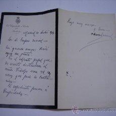 Alte Manuskripte - CARTA MANUSCRITA Y FIRMA DE ANTONIO AURA BORONAT DIPUTADO A CORTES POR BARBASTRO(HUESCA) 1904. - 27267718