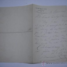 Manuscritos antiguos: CARTA MANUSCRITA DEL JEFE DE LA LINEA DE LA GUARDIA CIVIL DE NAVALCARNERO,BIENVENIDO PEREZ.1921.. Lote 25815444