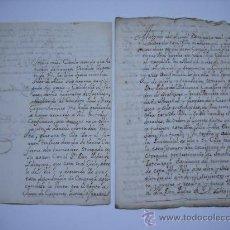 Manuscritos antiguos: MANUSCRITO S.XVIII(1720).VILLA DE HERNANI (GUIPUZCOA)1 CARTA DE 2 FOLIOS Y 1 CERTIFICADO DE 2 FOLIOS. Lote 23396880