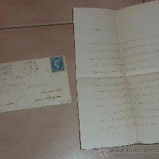 Manuscritos antiguos: MUY RARA CARTA Y SOBRE DEL CONSEILLER IMPERIAL DE FRANCIA DE 1866. ESCRITA Y FIRMADA POR EL EN PARIS. Lote 26492322