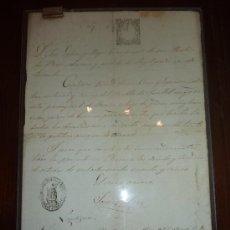 Manuscritos antiguos: DOCUMENTO RELIGIOSO DE LERIDA - LLEIDA. CON 3 SELLOS, UNO MUY RARO. DE AÑO 1865. Lote 24249134