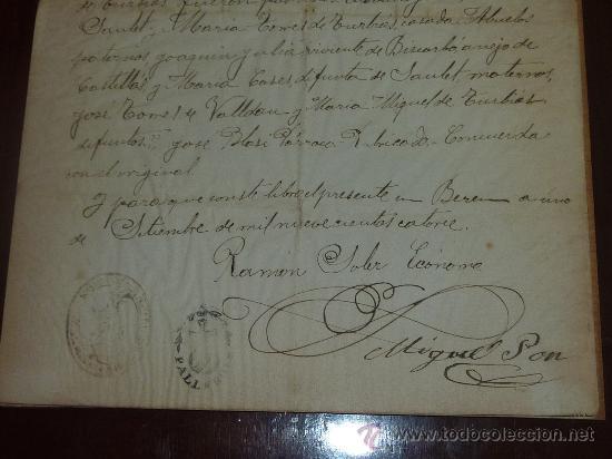 Manuscritos antiguos: Documento de obispado de urgel 1914. Con dos sellos religiosos... - Foto 3 - 24249072