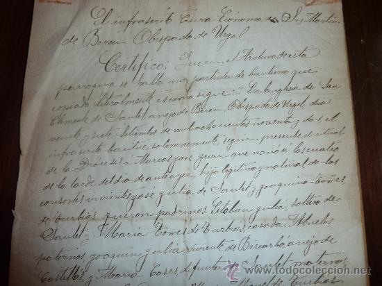 Manuscritos antiguos: Documento de obispado de urgel 1914. Con dos sellos religiosos... - Foto 4 - 24249072