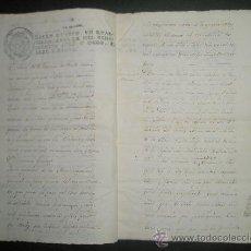 Manuscritos antiguos: ESCLAVOS.CAFE SELLO DE ESCRIBANO DE CUBA 1818.VENTA TASACION DE CAFETAL CON 41 ESCLAVOS NEGROS. Lote 24424651