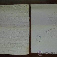 Manuscritos antiguos: PAREJA DE PAPELES DE CAPITAN DE BARCO : BERGANTIN ESPAÑOL DE 1879 BARCELONA, MUCHOS NOMBRES.... Lote 27378780