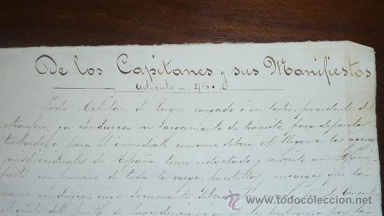Manuscritos antiguos: Pareja de papeles de capitan de barco : bergantin español de 1879 Barcelona, muchos nombres... - Foto 2 - 27378780