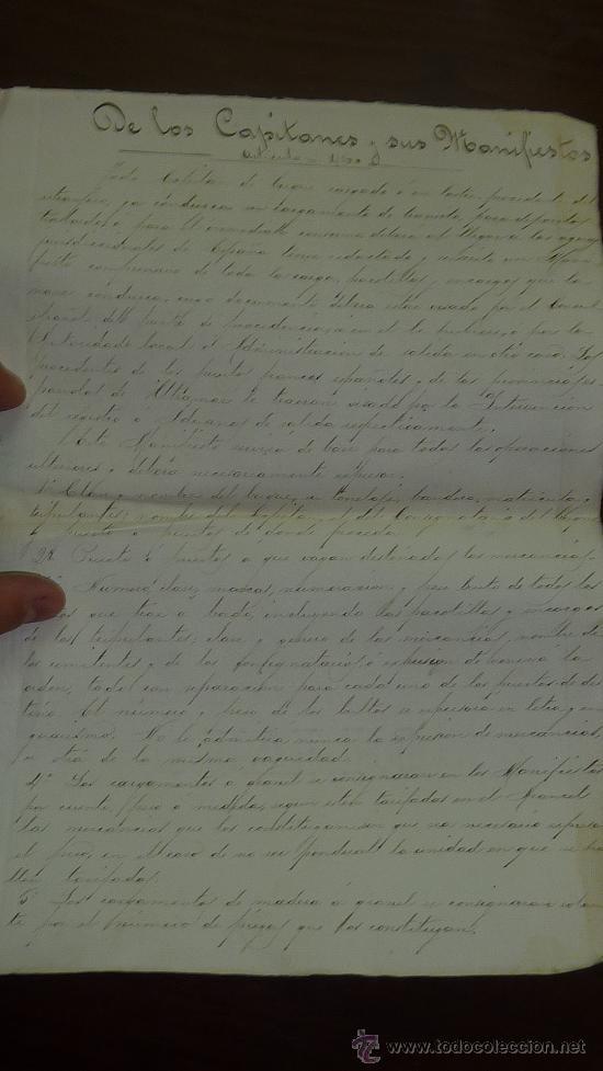 Manuscritos antiguos: Pareja de papeles de capitan de barco : bergantin español de 1879 Barcelona, muchos nombres... - Foto 6 - 27378780
