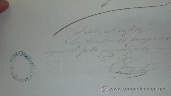 Manuscritos antiguos: Pareja de papeles de capitan de barco : bergantin español de 1879 Barcelona, muchos nombres... - Foto 4 - 27378780