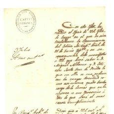 Manuscritos antiguos: SERVICIO DE RONDA - 1852 .. SE LA SABANILLA DELECOMENDADOR CAPITª PEDABEA. Lote 25203591