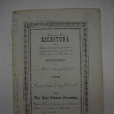Manuscritos antiguos: MANUSCRITO.ESCRITURA DE VENTA EN VILLAROBLEDO(ALBACETE)1874.VENTA DE UNA SUERTE DE TIERRA........ Lote 25523312