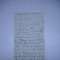 Manuscritos antiguos: MILITAR.CARTA MANUSCRITA DE SALVADOR CORTILS,VALENCIA 1899.MEMBRETE REGIMIENTO INFANTERIA MALLORCA . Lote 27103094