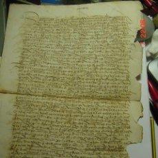 Manuscritos antiguos: LAGUNA DE DUERO - VALLADOLID PRECIOSO MANUSCRITO AÑO 1526 -DIEGO DE LEON Y RODRIGO DE VERDESOTO. Lote 27588707