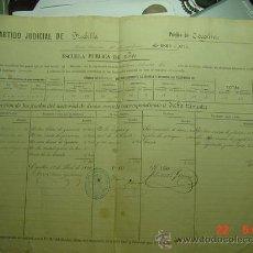 Manuscritos antiguos: CAPILLAS PALENCIA - DOCUMENTO DE INVERSION EN LA ESCUELA PUBLICA AÑO 1869 - MUY CURIOSO. Lote 26309889