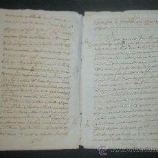 Manuscritos antiguos: VALLE DE OQUENDO. HEREDAD DE UNZABECHI-TIERRA DE AYALA. 300 REALES EN PIEZAS DE ORO POR LA PLANTIA . Lote 26340976