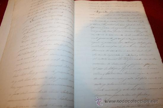 Manuscritos antiguos: CERTIFICACIÓN - REGISTRO DE LA PROPIEDAD - BARCELONA - AÑO 1871 - Foto 3 - 26447273
