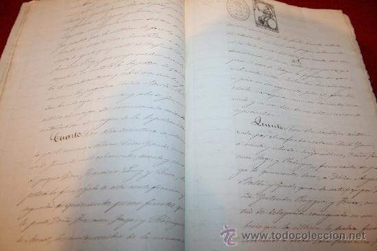 Manuscritos antiguos: CERTIFICACIÓN - REGISTRO DE LA PROPIEDAD - BARCELONA - AÑO 1871 - Foto 4 - 26447273