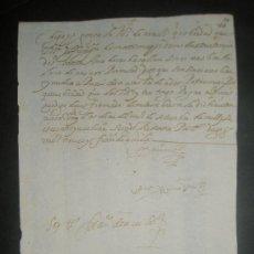 Manuscritos antiguos: VIRREINATO DEL PERU AÑO 1609.RECIBO DE PAGO DE 5 ARROBAS DE LANA DEL MAYORDOMO DE LA ESTANCIA SANTA. Lote 26719642