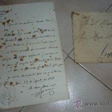 Manuscritos antiguos: ANTIGUO DOCUMENTO CARTA Y SOBRE RELIGIOSA. CABILDO CATEDRAL DE VICH. VIC. SELLADO FIRMADO EN 1925.. Lote 27315517