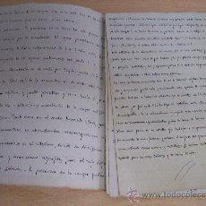 Manuscritos antiguos: CUADERNO DE CAMPO / MANUSCRITO / AGRICULTURA / FINALES S. XIX. Lote 27349890