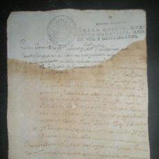 Manuscritos antiguos: GRANADA PRESIDIO DE LAS ALPUJARRAS 1800 CERTIFICADO DE BAUTISMO DE ANTONIO GERONIMO AGUILERA. Lote 27492035
