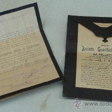 Manuscritos antiguos: 2 CARTAS SOBRES DE LUTO DE 1895, MUY CURIOSOS. Lote 27688102
