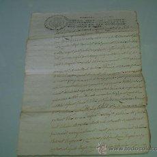 Manuscritos antiguos: NOTARIO IGNASI CANO Y ALMAZ -AÑO 1816 - BISBAL -GERONA. Lote 27856182