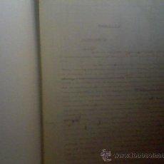 Manuscritos antiguos: ESCRITOS DE MEDIADOS DE SIGLO MECANOGRAFIADOS Y CORRECCIONES MANUSCRITAS GUERRA CIVIL , CUENTOS,. Lote 27910870