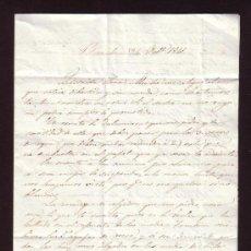 Manuscritos antiguos - Carta 1841 * Barcelona a Horta * a la esposa * agujas, recetas y Saludos cordiales, - 27979198