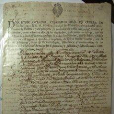 Manuscritos antiguos: 136 VALVERDE DE CAMPOS VALLADOLID MANUSCRITO AÑO 1773 - JORGE ASTRAUDI CANAL CASTILLA. Lote 28206478