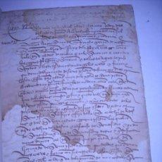 Manuscritos antiguos: MANUSCRITO SIGLO XV (ZAMORA ,1499). ESCRITURA DE CENSO Y FUERO DE 500 MARAVEDIES Y TRES PARES DE. Lote 28247806