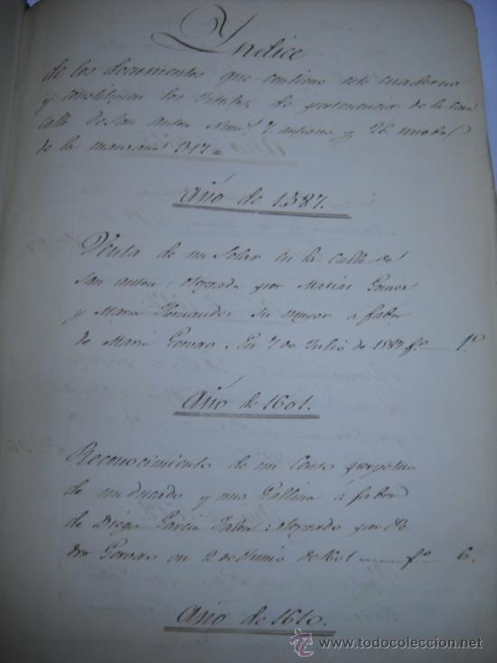 Manuscritos antiguos: DOCUMENTO MANUSCRITO- MADRID- TITULOS DE PERTENENCIA CALLE SAN ANTON Nº 7 MANZANA 317.800 FOLIOS - Foto 5 - 28405324