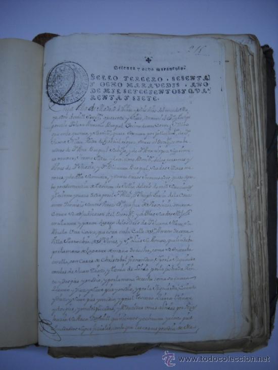 Manuscritos antiguos: DOCUMENTO MANUSCRITO- MADRID- TITULOS DE PERTENENCIA CALLE SAN ANTON Nº 7 MANZANA 317.800 FOLIOS - Foto 13 - 28405324
