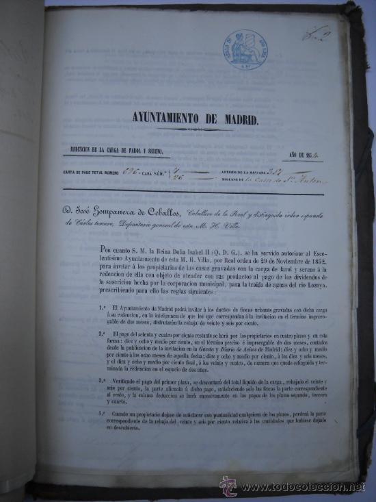 Manuscritos antiguos: DOCUMENTO MANUSCRITO- MADRID- TITULOS DE PERTENENCIA CALLE SAN ANTON Nº 7 MANZANA 317.800 FOLIOS - Foto 16 - 28405324