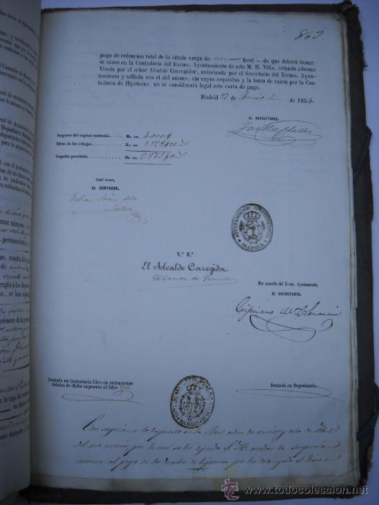 Manuscritos antiguos: DOCUMENTO MANUSCRITO- MADRID- TITULOS DE PERTENENCIA CALLE SAN ANTON Nº 7 MANZANA 317.800 FOLIOS - Foto 17 - 28405324