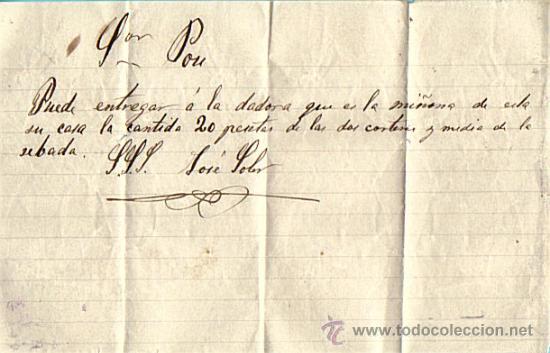 FACTURA MANUSCRITA AÑOS 1870/1890 (Coleccionismo - Documentos - Manuscritos)