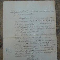 Manuscritos antiguos: CERTIFICACIÓN DE ELECCIONES DIPUTADOS A CORTES. ZUHEROS 3-I-1876. DIM.- 22X31,5 CMS.. Lote 28537509