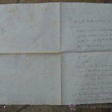Manuscritos antiguos: CERTIFICACIÓN DE ELECCIONES DIPUTADOS A CORTES. PRIEGO 23-I-1876. DIM.- 22X31,5 CMS.. Lote 28538596