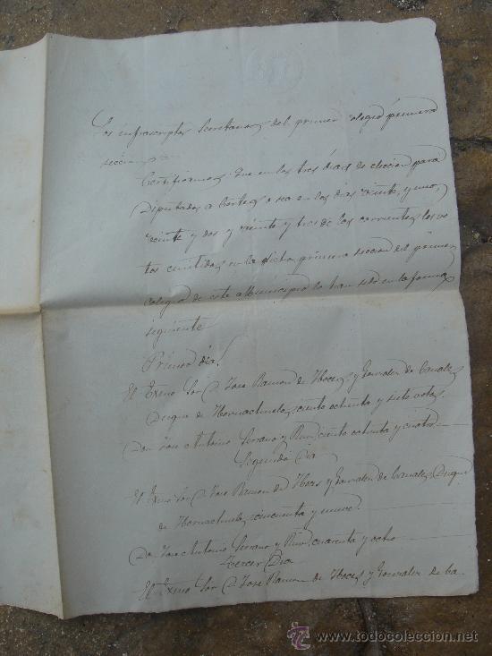 Manuscritos antiguos: DETALLE PRIMERA HOJA - Foto 2 - 28538596