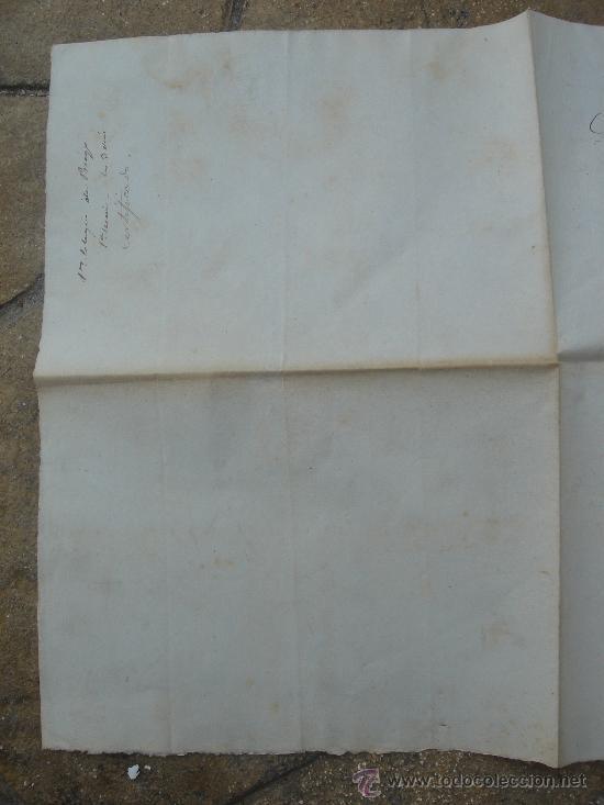 Manuscritos antiguos: DETALLE ÚLTIMA HOJA -REVERSO- - Foto 3 - 28538596