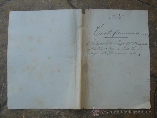 Manuscritos antiguos: PRIMERA Y ÚLTIMA PÁGINA (ANVERSO Y REVERSO) - Foto 4 - 28538622