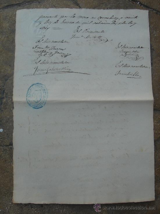 Manuscritos antiguos: PARTE POSTERIOR CERTIFICACIÓN COLEGIO SAN JOSÉ - Foto 10 - 28538622