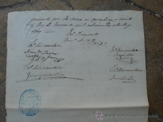 Manuscritos antiguos: DETALLE PARTE POSTERIOR CERTIFICACIÓN COLEGIO SAN JOSÉ - Foto 11 - 28538622