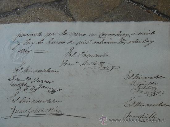 Manuscritos antiguos: DETALLE DE LAS FIRMAS - Foto 13 - 28538622