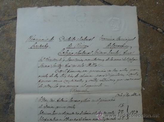 Manuscritos antiguos: DETALLE CERTIFICACIÓN DEL COLEGIO SEÑORA SANTA ANA - Foto 15 - 28538622