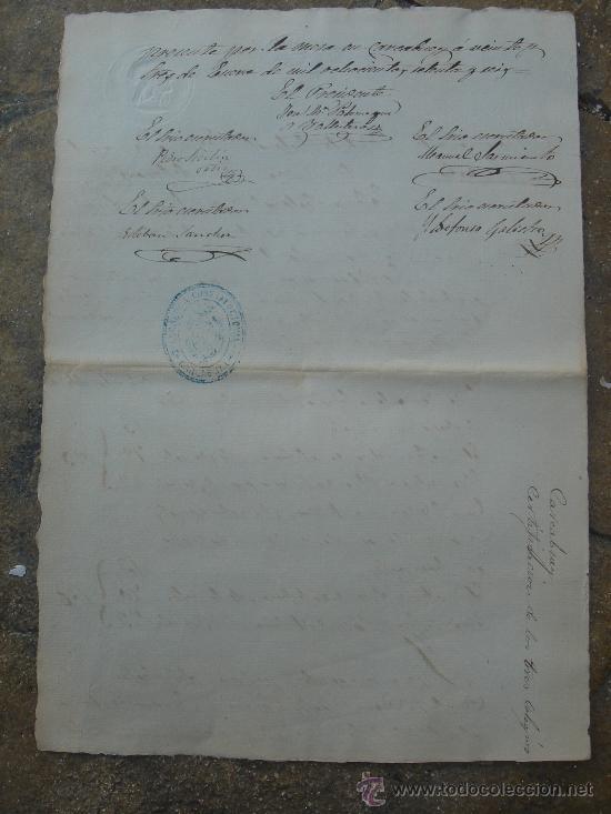 Manuscritos antiguos: REVERSO DE LA CERTIFICACIÓN DEL COLEGIO SEÑORA SANTA ANA - Foto 18 - 28538622