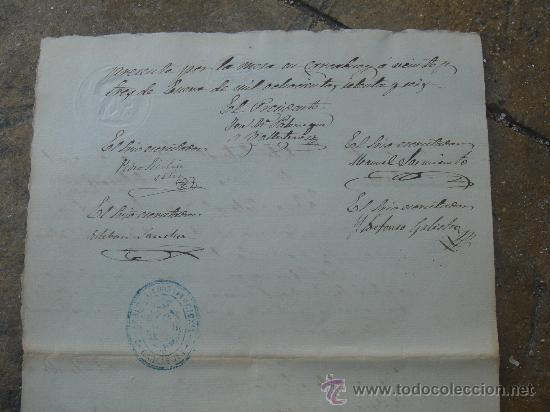 Manuscritos antiguos: DETALLE REVERSO CERTIFICACIÓN COLEGIO SEÑORA SANTA ANA - Foto 20 - 28538622