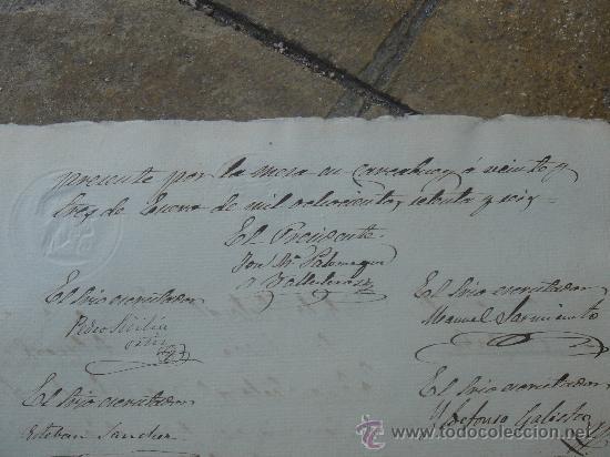 Manuscritos antiguos: DETALLE REVERSO CERTIFICACIÓN COLEGIO SEÑORA SANTA ANA - Foto 21 - 28538622