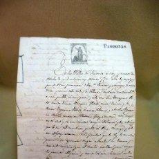 Manuscritos antiguos: DOCUMENTO, MANUSCRITO DE PROPIEDAD, ESCRITURA, 7 PAG, VILLA DE SISANTE, 1872. Lote 28659912