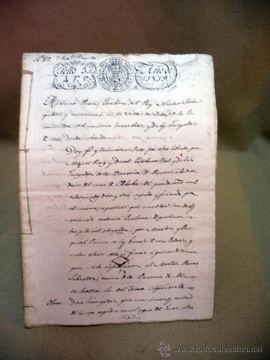 DOCUMENTO, MANUSCRITO DE PROPIEDAD, 1819, MARIANO PEREZ, 20 PAG, PICASENT, VALENCIA, (Coleccionismo - Documentos - Manuscritos)