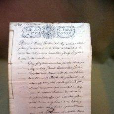 Manuscritos antiguos: DOCUMENTO, MANUSCRITO DE PROPIEDAD, 1819, MARIANO PEREZ, 20 PAG, PICASENT, VALENCIA,. Lote 28659939